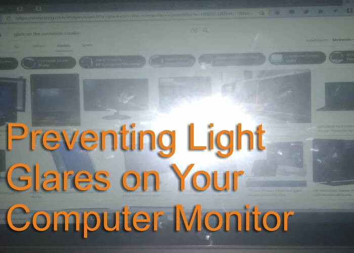 Prevent Light Glares While Using Your Laptop