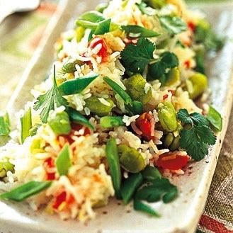 Salade de riz verdures