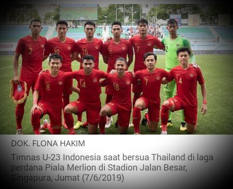 Jadwal Timnas U-23 Indonesia vs China di CFA Internasional Football 2019, Live RCTI!