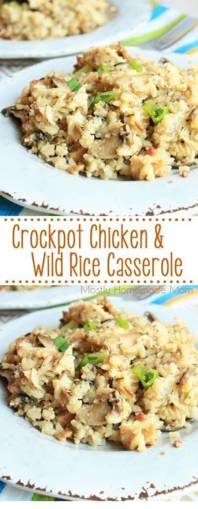 Crockpot Chicken & Wild Rice Casserole