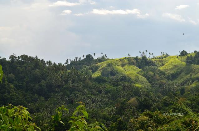 Bukit-bukit hijau merona di sepanjang pesisir Minahasa | © jelajahsuwanto