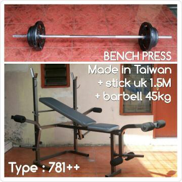 Alat bench press 781 ~ gallery fitness jogja