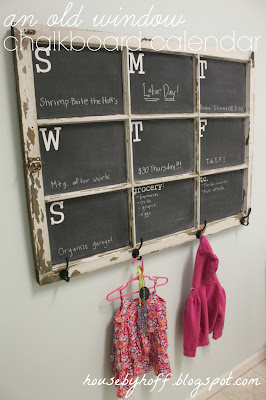 how to make a chalkboard calendar via housebyhoff.blogspot.com