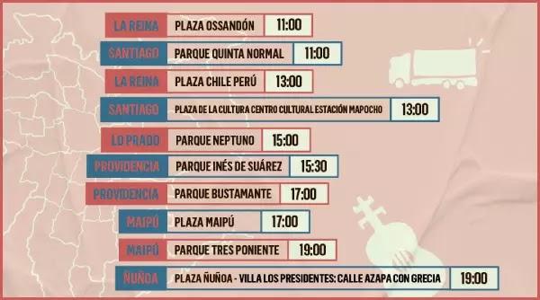 El Día de la Música Chilena 2021 se celebrará con 10 conciertos arriba de un camión musica chilena música chilena