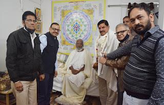 डाॅ. मोहन यादव उच्च षिक्षा मंत्री का तीर्थ पर हुआ आगमन