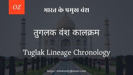 Tuglak Lineage Chronology