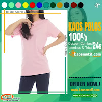 KAOS POLOS PINK BABY COMBED 24S