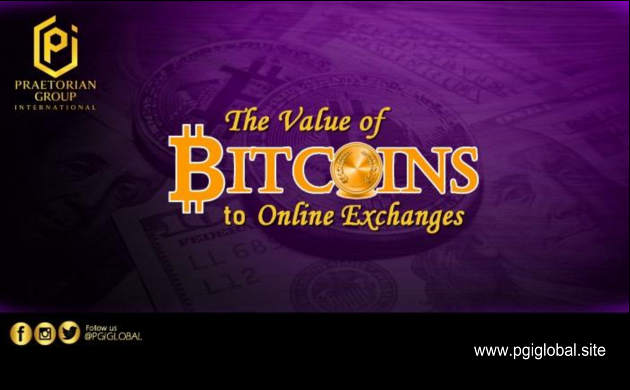The Value of Bitcoins to Online Exchanges