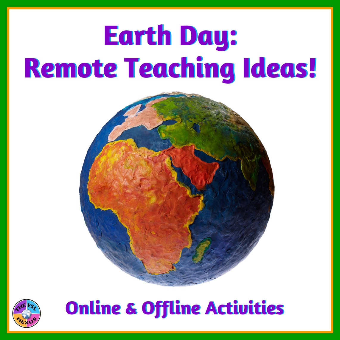 Find ideas for online & offline activities for teaching about Earth Day and the environment in this blog post. Links to other blog posts about the environment also included. | The ESL Nexus