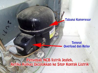 Penyebab NCB listrik Jeglek, Ketika Kulkas Dicolokkan ke Stop Kontak Listrik