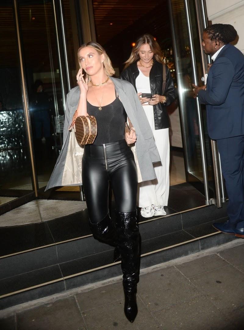Ferne McCann,Megan McKenna  Leaves Novikov Restaurant in London 17 Sep -2020