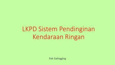 LKPD Sistem Pendinginan Kendaraan Ringan PMKR XI