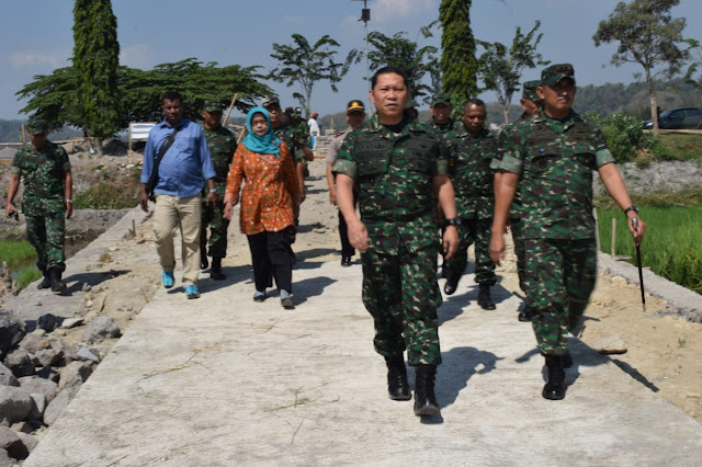 Danrem 074/Warastratama Tinjau Lokasi sasaran TMMD Reguler di Klaten