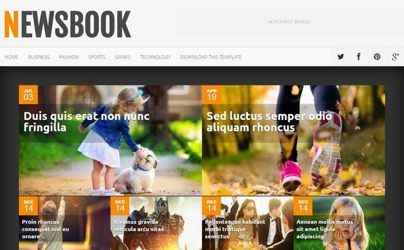 News Book Blogger Template