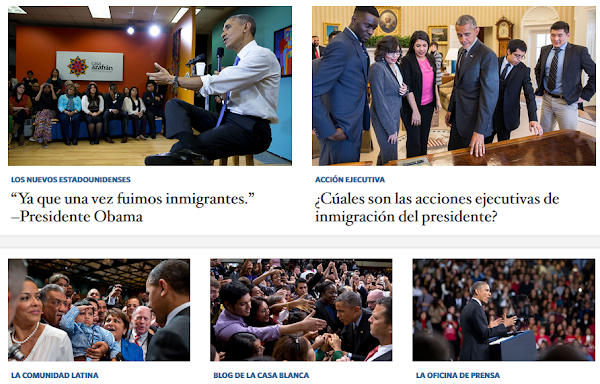 Click - WhiteHouse WebPage in Spanish
