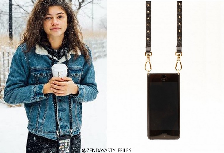 5f815a73b94454 Levi s Denim Sherpa Jacket Full     available HERE. One of the most  interesting items that Zendaya had this year was a leather crossbody Iphone  case by ...