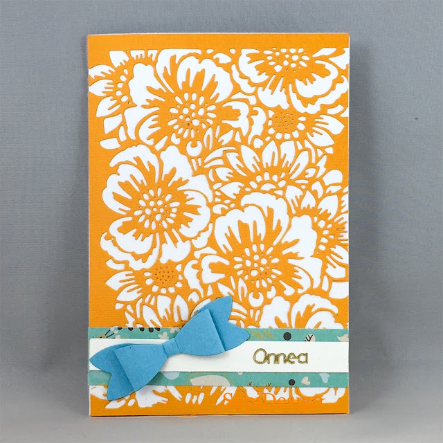 orange blue summer ends card SapiDesign