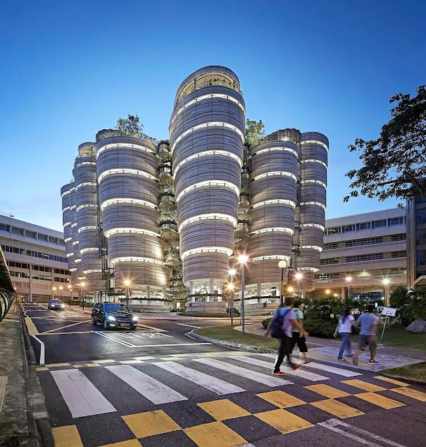 Tòa nhà The Hive được thiết kế bởi một kiến trúc sư người Anh có tên là Thomas Heatherwick, hoàn thành vào năm 2015. Được biết, nơi này có tổng trị giá 45 triệu SGD (hơn 770 tỷ đồng).