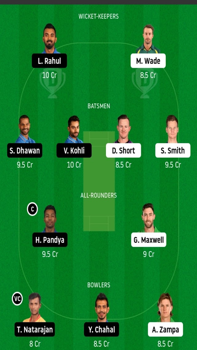 Australia vs india T20 fantasy11 prediction  in tamil