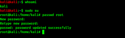 sucessfully added root user password