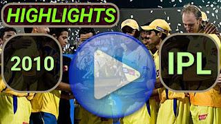 2010 IPL Matches Highlights Online