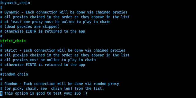 diferentes tipos de cadenas de proxy