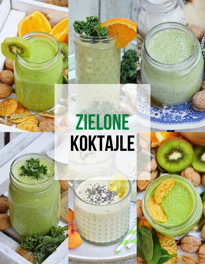 Zielone koktajle - smaczne  przepisy na zdrowie