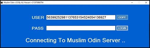 muslim odin user pass