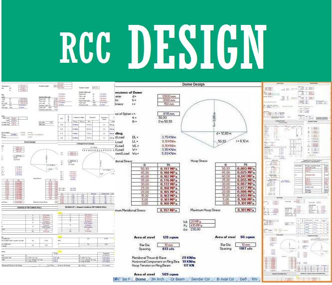 ملف اكسيل لتصميم جميع العناصر الانشائية | مجلتك المعمارية