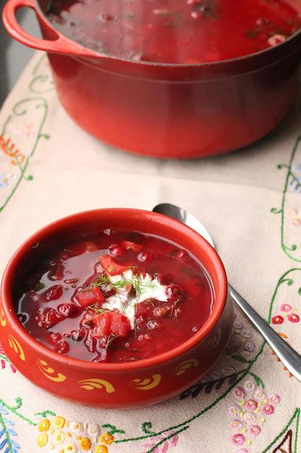 borscht soupe chaude
