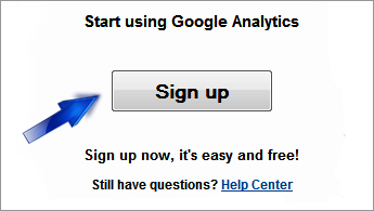 analytics sign up