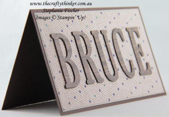 #thecraftythinker, #stampinup, #masculinecard, #cardmaking, Masculine card, True Gentleman DSP, Sneak Peek, Stampin' Up Australia Demonstrator, Stephanie Fischer, Sydney NSW