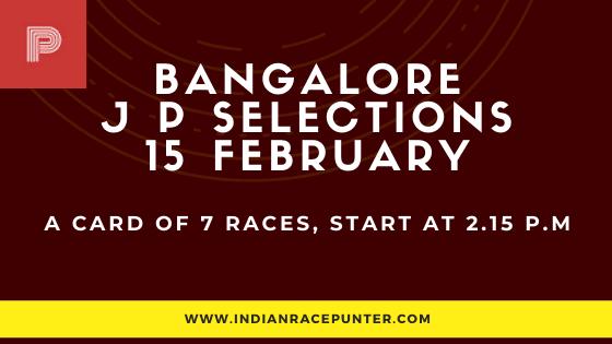 Bangalore Jackpot Selections 15 February, Jackpot Selections by indianracepunter,
