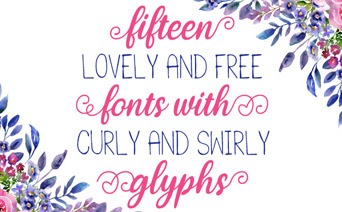 The Prettiest & Swirliest Free Fonts Ever!