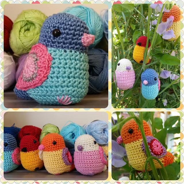 crochet bird pattern red haired amazona
