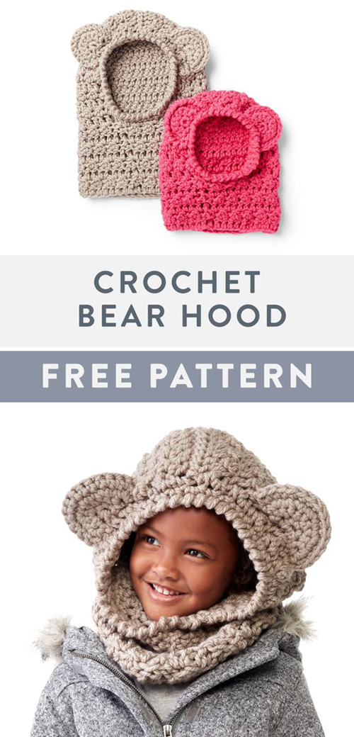 Crochet Bear Hood - Free Pattern