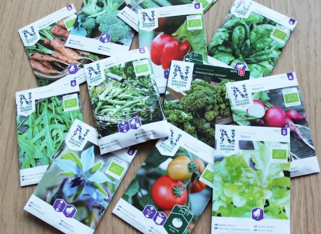 Økologiske frø fra Nelson Garden, finnes hos www.beecoshop.no