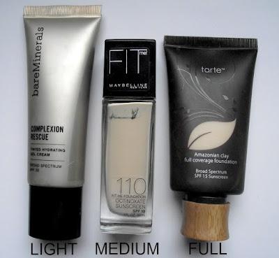 Light Med Full Coverage Foundations