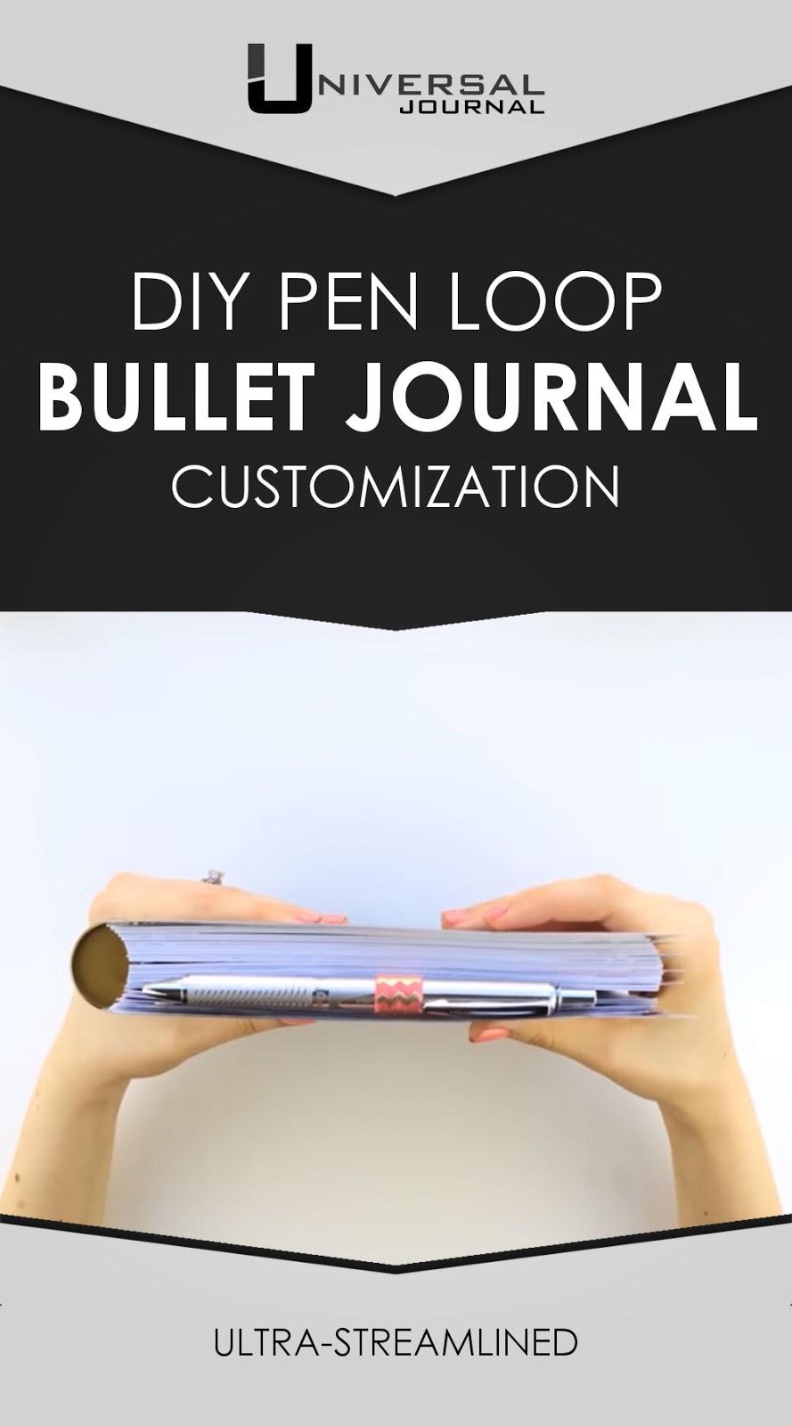 bullet journal diy pen loop custom