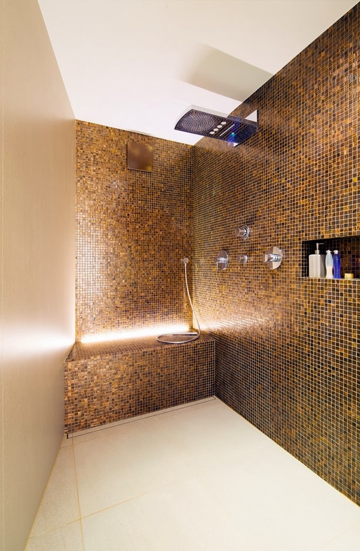 Shower in Beautiful House Lombardo by Philipp Architekten