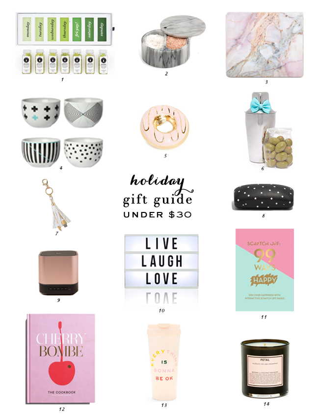 Under $30 Gift Guide, Gift Guide, Gift Ideas, Stocking Stuffers, Holiday Gifting