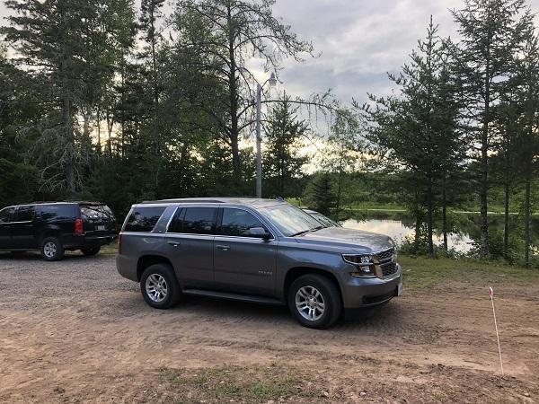 Unser Mietwagen, ein Chevy Tahoe Modell 2019 - genau meins!