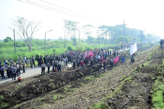 TNI-Polri Bersinergi Tanam Rumput Vetiver untuk Kelestarian Lingkungan