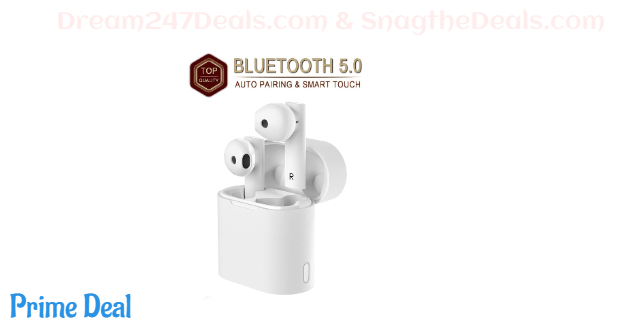 40%OFF Wireless Earbuds Bluetooth 5.0 Headsets with【16Hrs Charging Case】 IPX5 Waterproof 3D Stereo Headphones in-Ear Ear Buds Built-in Mic Earphones for Android iPhone Samsung(2020 Latest)