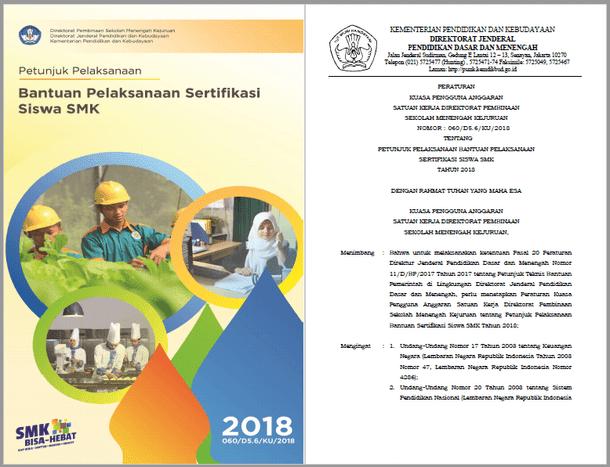 Juklak Bantuan Pelaksanaan Sertifikasi Siswa SMK Tahun 2018