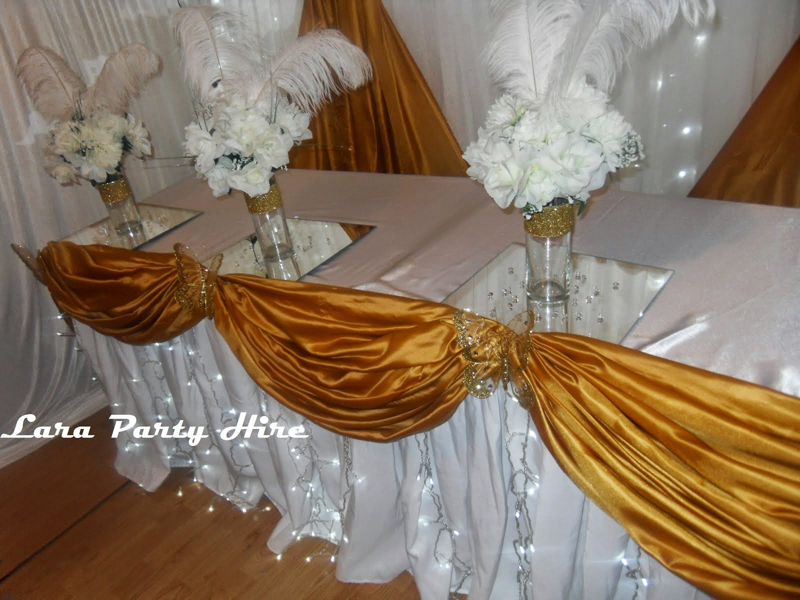 Gold Top Table Decor