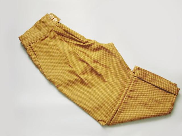 jak uszyć spodnie z zakładkami