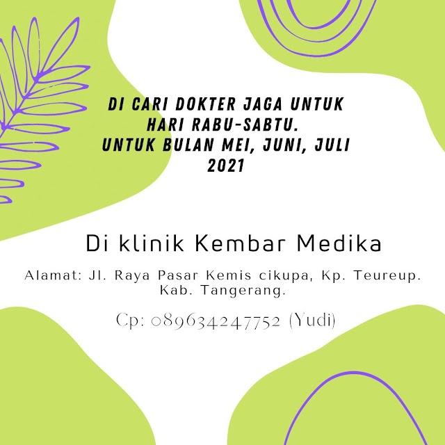Loker Dokter Klinik Kembar Medika Tangerang