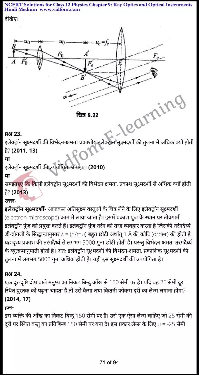 class 12 physics chapter 9 light hindi medium 71