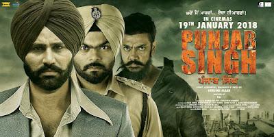 Poster Of Pollywood Movie Punjab Singh 2018 300MB DVDRip 480P Full Punjabi Movie